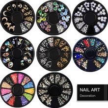 цена на Nail Art Decoration Mixed Color Stones Nail Rhinestone Gems AB Crystal Manicure 3D nails Jewelry Accessories