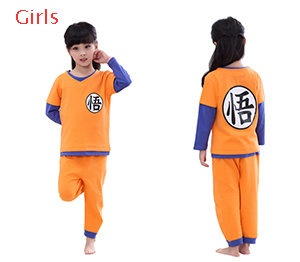 2019 Dragon Ball Family Pyjamas Set Christmas Outfit Pijama Sleepwear Mom and Me Clothes Mum Daughter Sun Wukong Family Clothing