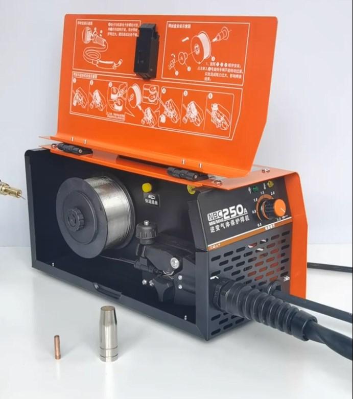 Сварочный аппарат с защитой от углекислого газа, интегрированный аппарат, два небольших сварочных аппарата 220 В, без газа, для дома