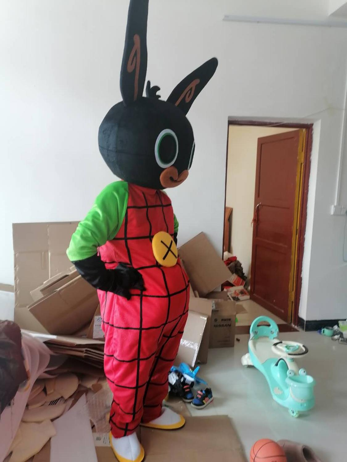 New Bing Bunny Mascot Extremely Costume Rabbit Animal Dress Party Adult Clothing