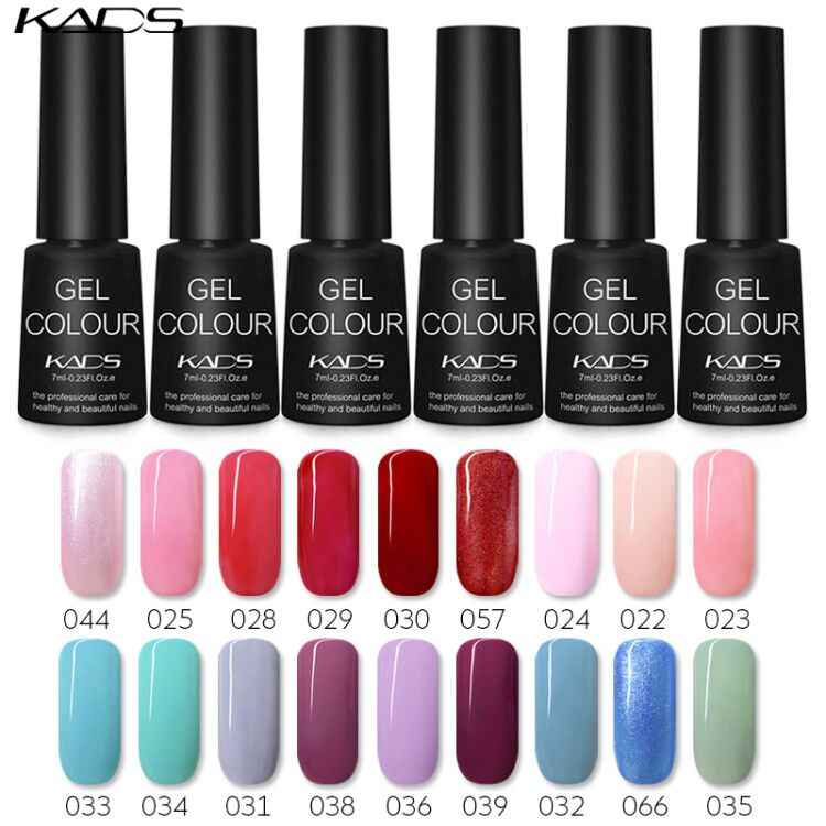 KADS 7ml Del Gel Del Chiodo Polacco Unghie artistiche UV Del Gel Del Chiodo Lacca Gel UV Top Coat Base Manicure di Gel per unghie colla Soak Off Nails Art