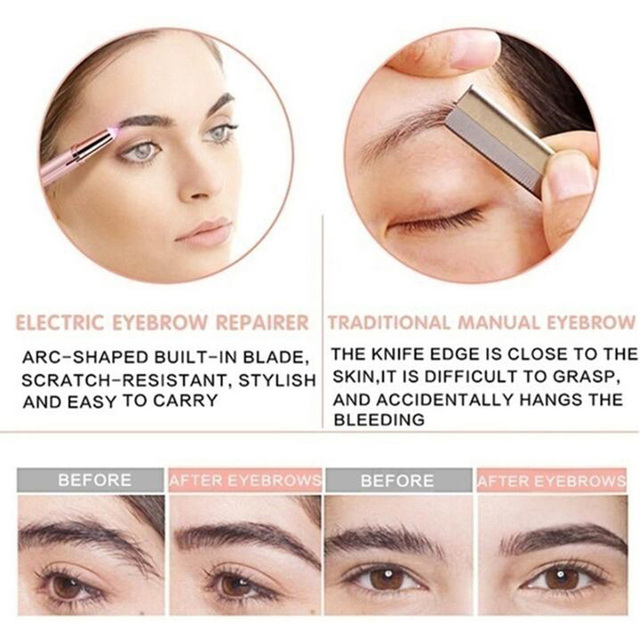 Electric Eye Brows Epilator Eyebrow Trimmer Mini Painless Eye Brow Epilator For Women Eyebrow Trimmer Mini Shaver Razors 4