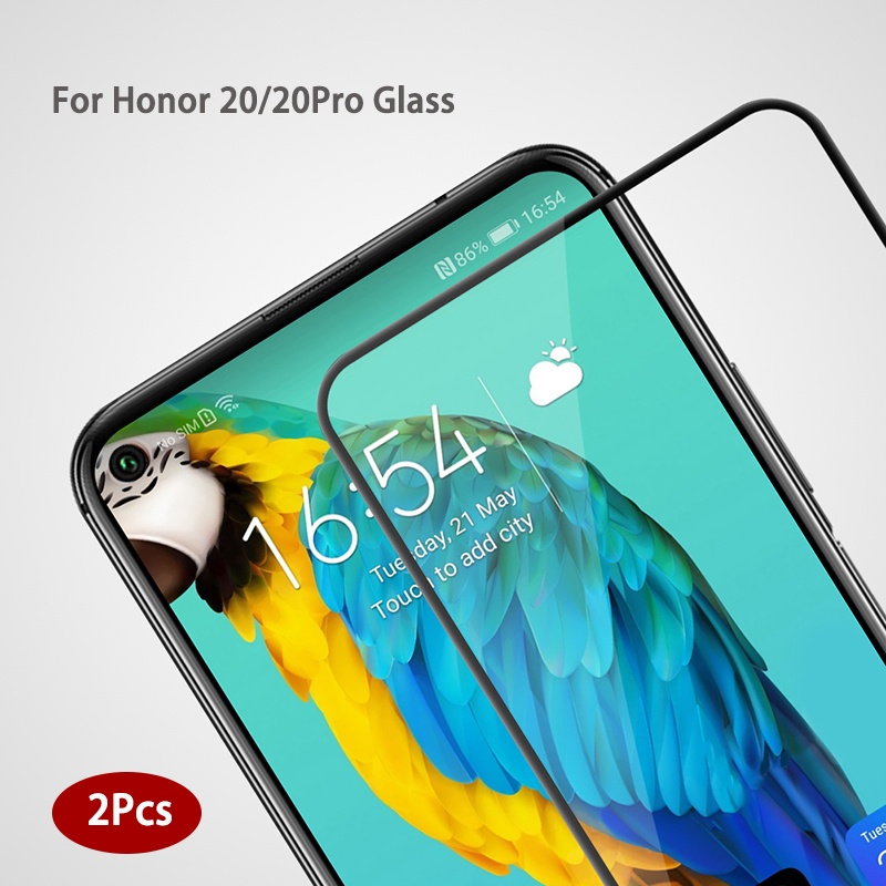2 PCS For Huawei Honor 20 Pro Tempered Glass 9H Screen Protector Film For Huawei Honor 20s Glass On Honor V20 Protective Glass