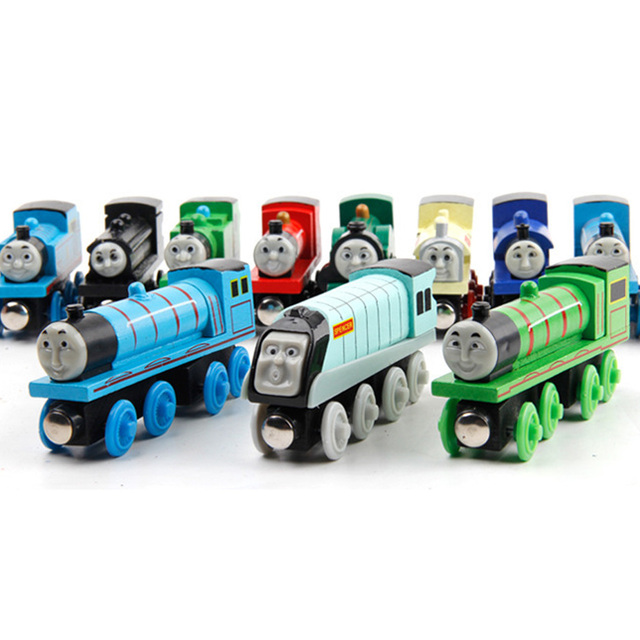 New Emily Wood Train Magnetic Wooden Trains Model Car Toy Compatible with Brio Brand Tracks Railway Locomotives Toys for Child 6