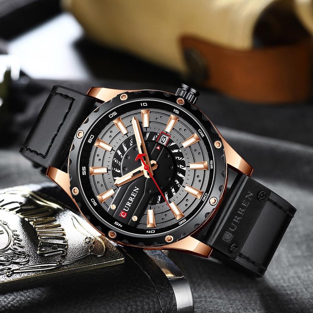 H5fdc0b5309fd49e88c7075a4e9ae83e5I CURREN Watch Wristwatch  New Chic Luminous hands