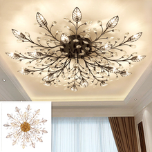 Nordic Modern Lron Led Luxury Chandelier Light Lamp for Loft Living Room Bedroom Home Hall Dining Deco Black Gold G9 Bird