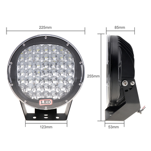 Image 2 - עגול LED זרקורים 225W 45x LED רכב אור בר כמו Worklight ספוט אור עבור שייט דיג SUV זרקור LED אורות