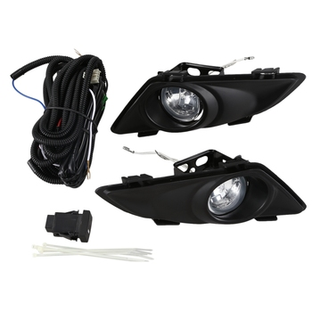 Front Right Left Clear Fog Lights Lamp Lens W/Wiring Kit for Mazda 6 2003 2004 2005