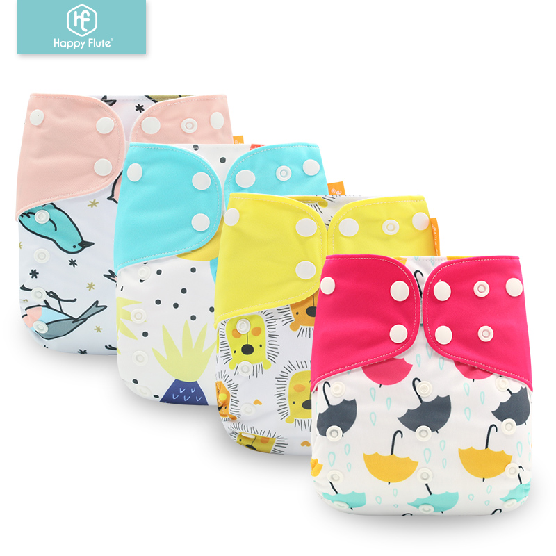 Happy Flute 1PCS One Size Pocket Cloth Diaper With Suede Cloth Inner