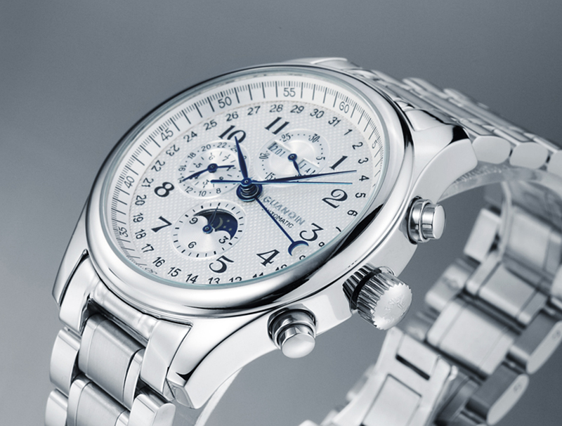 H5fdc39adb5404b73a84198d7a3fb4435j GUANQIN Automatic Mechanical Men Watches Top Brand Luxury Waterproof date Calendar Moon Leather Wristwatch Relogio Masculino A