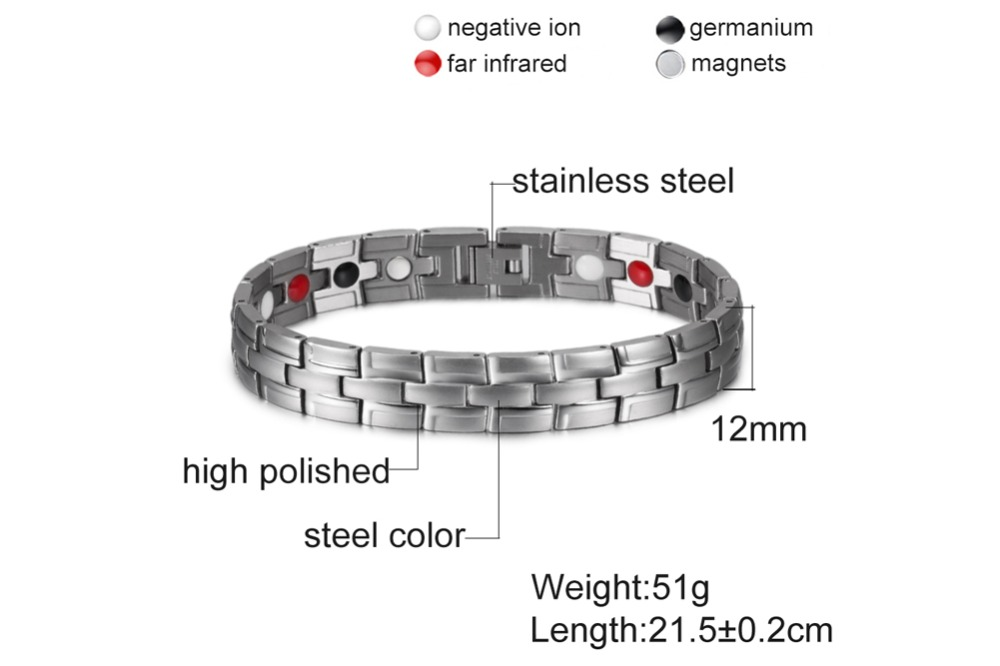 H5fdc5a48dbd84392b048940d8326b3ebH - Health Magnetic Bracelet Male Stainless Steel Wrist Band Magnetic Bracelet Men Hand Chain Energy Bracelets for Men