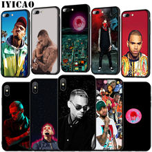 Pop Chris Brown Soft Silicone Cover Case voor iPhone 11 Pro XR X XS Max 6 6S 7 8 plus 5 5S SE Telefoon Case(China)