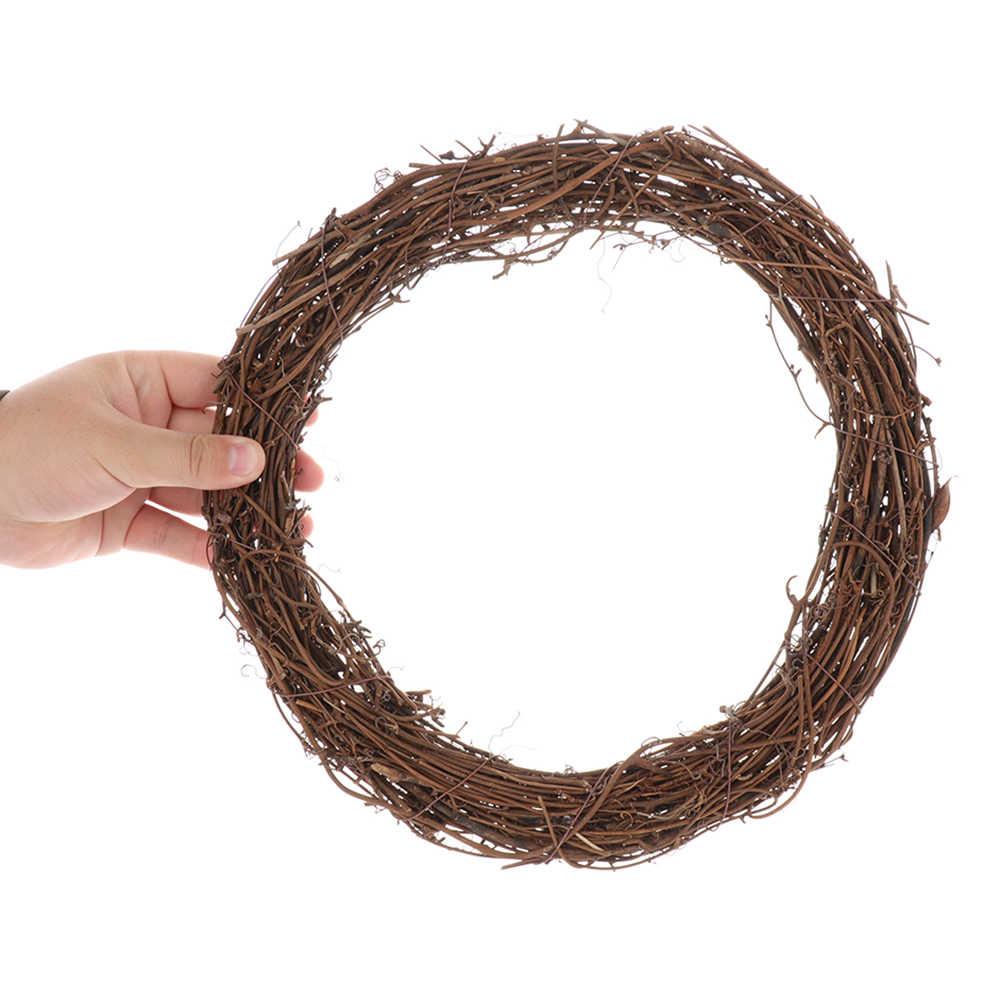 Healifty Couronne de no/ël Cadre Vigne Branche Couronne rotin Naturel Cercle brindille pour Bricolage Artisanat no/ël Porte Suspendue d/écorations 8 cm 10 pcs