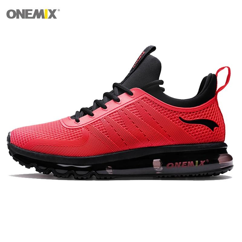 ONEMIX Men Sneakers 2020 Atheltic Shoes For Men High Top Sport Shoe Blue Outdoor Sneakers Mesh Breathable Walking Footwear Sport