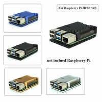 Raspberry Pi 4, modelo B/3B +/3B, 4 colores, funda de Metal de aluminio con disipadores de calor para Raspberry Pi 4/3