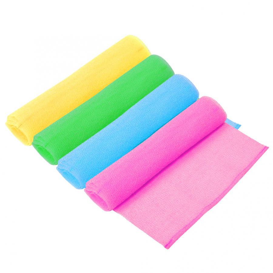 Body Cleaning Exfoliating Washcloth Elastic Shower Scrub Rubbing Massage Bath Towel Strap Bath