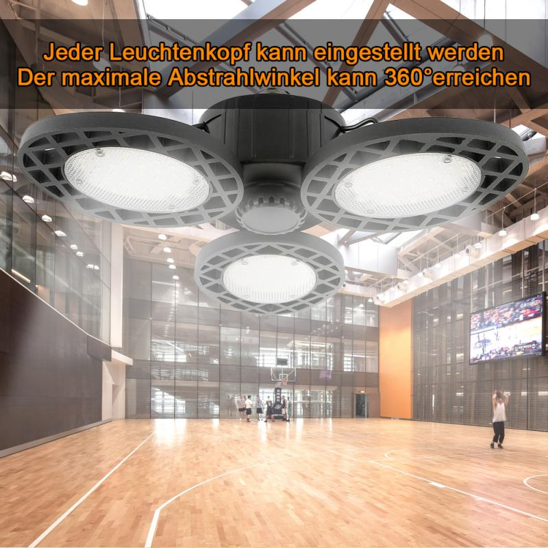 144 Led Garage Lights,Ceiling Light Bulbs Clamp 60/80W E26 6000LM Utility Led For Workshop,Basement,Barn,Wine Cellar.etc