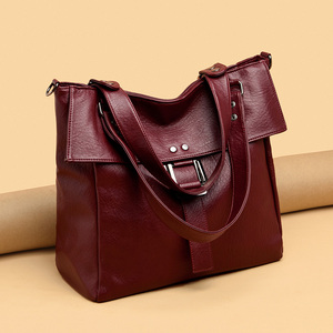 Image 5 - 2 Pc/s Women Leather Handbags High Quality Purses And Handbags 2019 Female Soft Leather Shoulder Bag Sac A Main Tote Bags Women