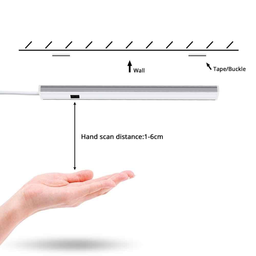 Collegabile a 10M HA CONDOTTO LA Luce di Striscia con Smart Sweep Mano Interruttore di 5/6/7W Lampada Della Cucina retroilluminazione Ad Alta Luminosità Guardaroba Lampada 12V