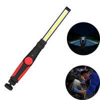 Portable COB led Flashlight Work Light 5V 10W Rechargeable Magnetic Hanging Hook Lamp Camping Car Repairing Light Bar Torch Tool