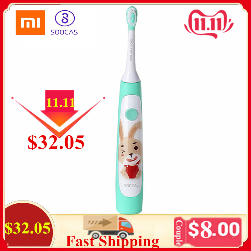 Xiaomi SOOCAS C1Waterproof Sonic Kid Electric Toothbrush With 2Pcs Brush Heads Rechargeable Toothbrush Dental Care ToothBrush XJ