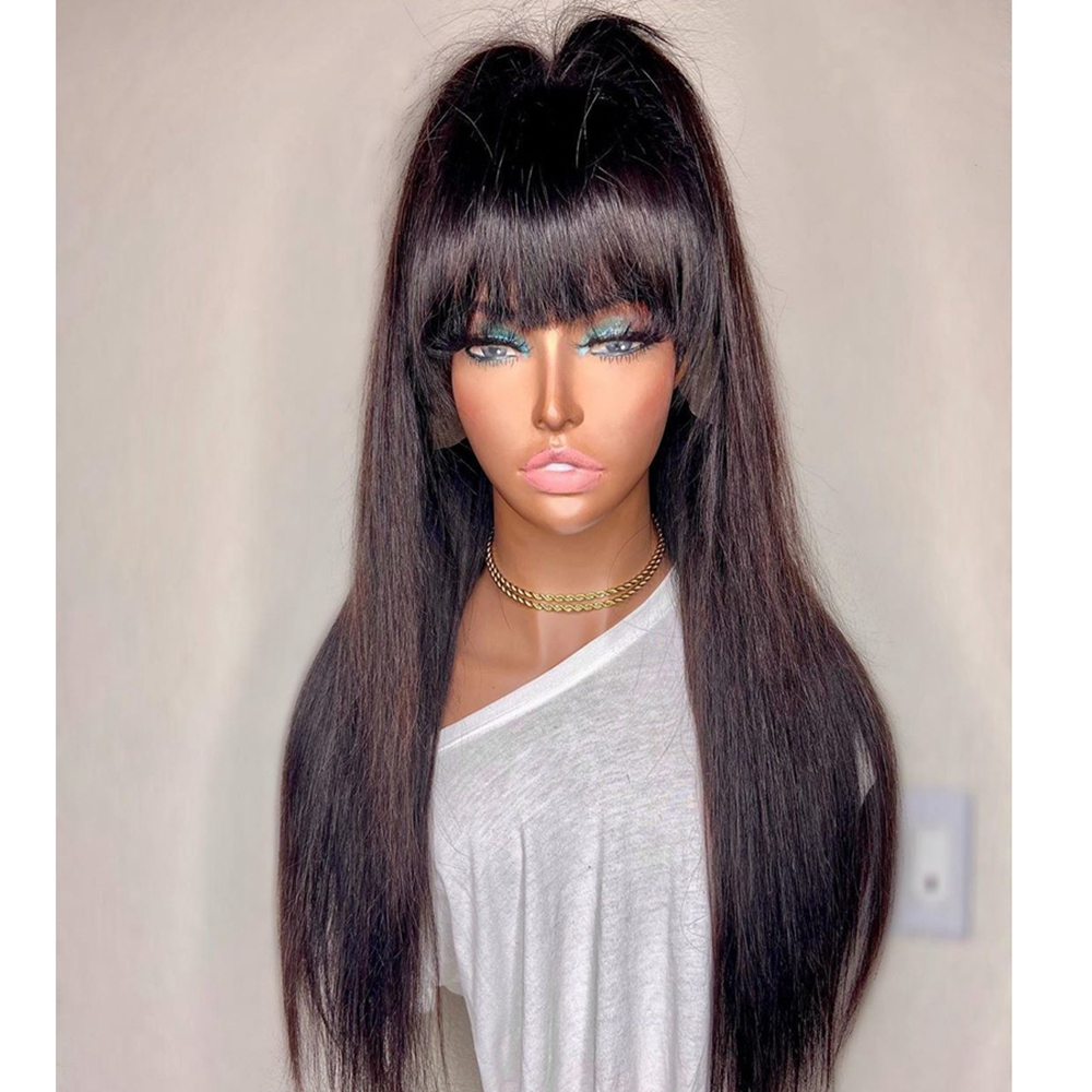 High-Ponytail-Silky-Straight-4x4-Silk-Base-Lace-Front-Human-Hair-Fringe-Wigs-for-Black-Women (1)