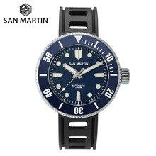 San Martin reloj mecánico de buceo profesional para hombre, luminoso, 1000m, resistente al agua, cristal de zafiro, bisel de cerámica