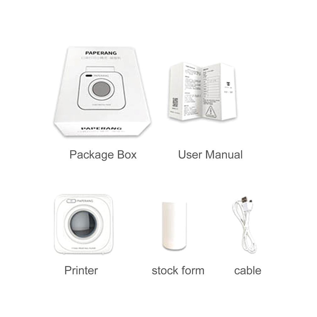 Paperang P1 Small Size Wireless 4.0 Mobile Phone Instant Photo Printer Digital Picture Printing 1000MAH Battery image