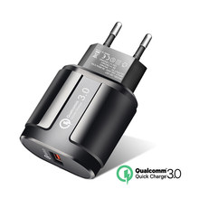 Phone Charger quick charge QC 3.0 US EU Universal mobile phone qc3.0 Fast charger For iPhone 7 Samsung S9 Xiaomi