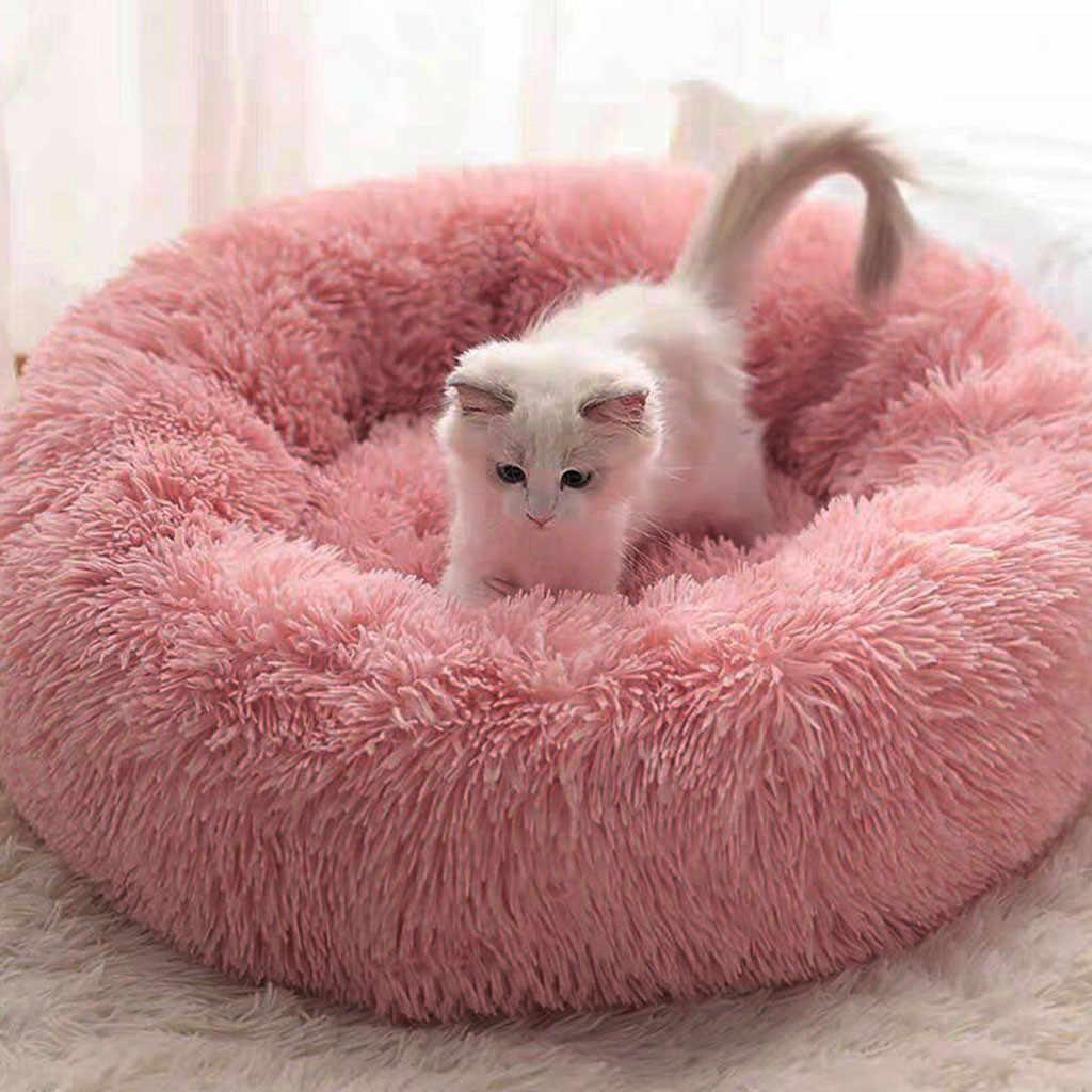 Peluche lunga Super Soft Letto Cane Canile Rotonda Sacco A Pelo Lettino Gatto di Casa Inverno Caldo Divano Cestino per le Piccole cane di grandi dimensioni #35