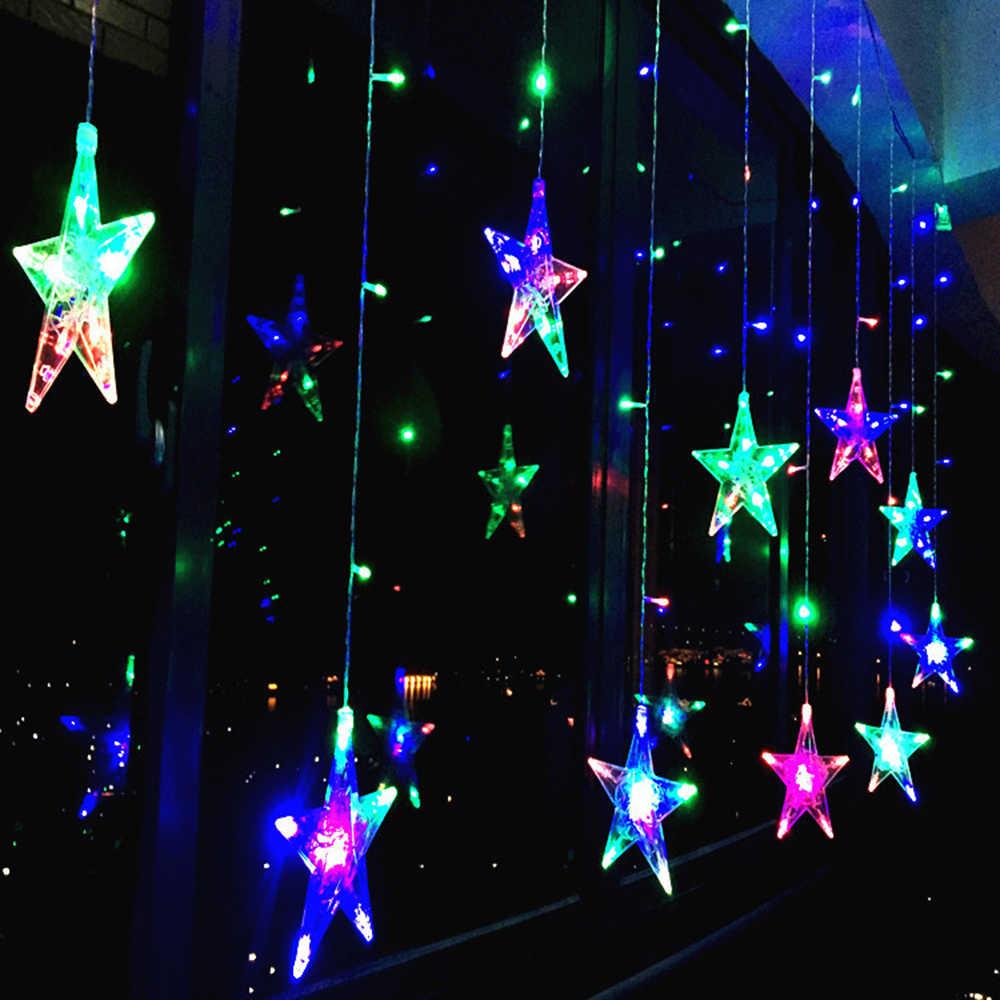 Светодиодная Рождественская гирлянда, сказочные огни для улицы, AC220V, EU Plug, гирлянда, лампа, украшения для дома, вечерние, для сада, свадьбы, праздника, освещение