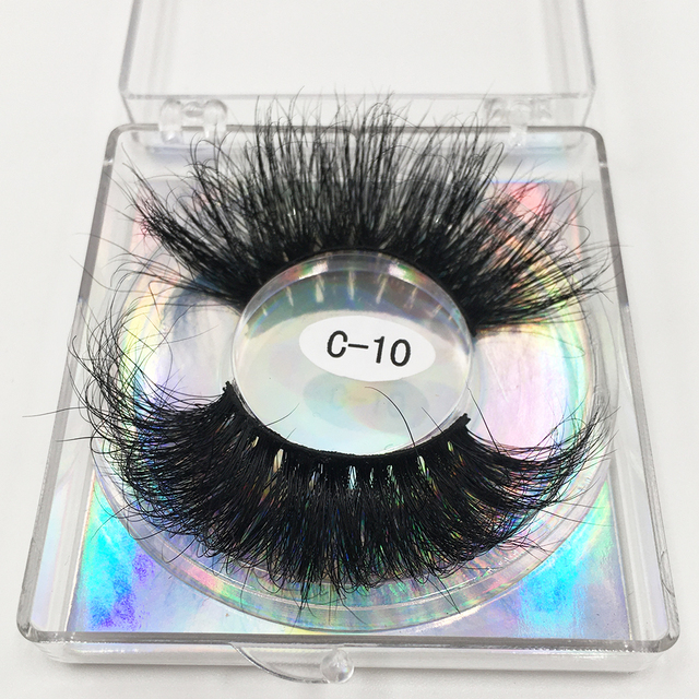 RED SIREN 25mm Lashes Real Mink Eyelashes Cruelty Free Dramatic Long Fluffy 3d Mink Lashes Extension Makeup Mink Lashes 4