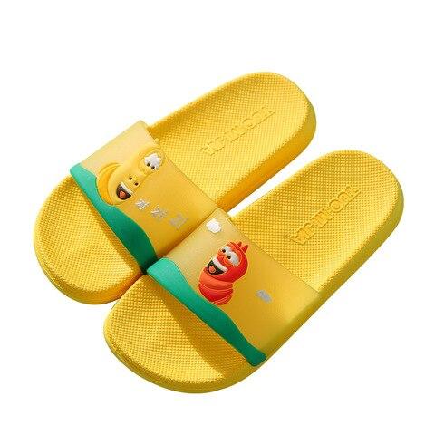 verao criancas sapatos chinelos do bebe do banheiro antiderrapante bonito dos desenhos animados sandalias meninos