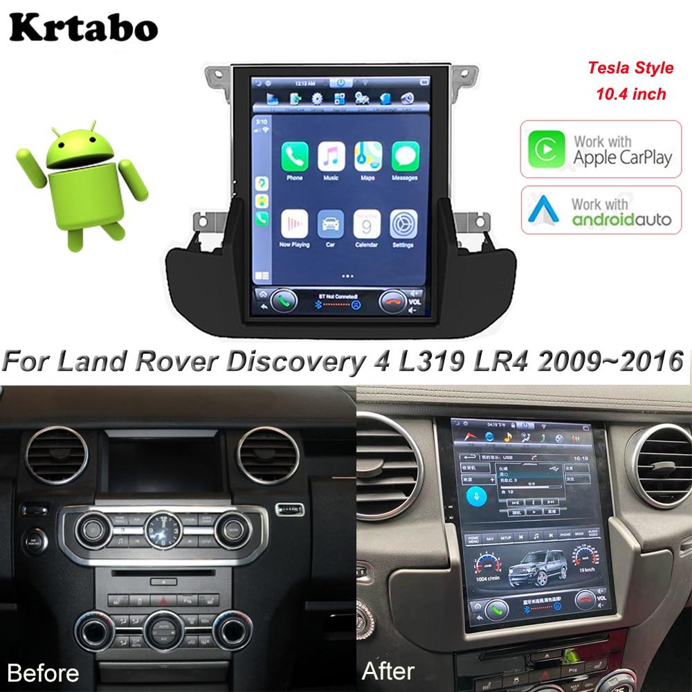 Автомобильный мультимедийный плеер Tesla, экран 10,4 дюйма для Land Rover Discovery 4 LR4 L319 2009 2016, Android, радио, GPS, стерео|Мультимедиаплеер для авто|   | АлиЭкспресс