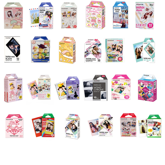 Original Fujifilm Instax mini Film 10 Sheets Instant Film mini 8 mini 9 Photo For 7s 70 SP 1 SP 2 Instant Camera