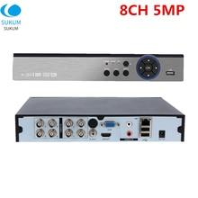 NVR Audio Cctv-Video-Recorder Surveillance-Dvr-8ch ONVIF Cvbs/ip-Cameras 2CH 5MP IN RCA