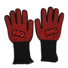800 Degress Heat Resistant Fire Gloves Flame Retardant Antiskid Fireproof Grill Microwave Oven BBQ Baking Hand Protection PM024
