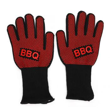 800 Degress Heat Resistant Fire Gloves Flame Retardant Antiskid Fireproof Grill Microwave Oven BBQ Baking Hand Protection PM024 500 degrees heat insulation gloves high temperature resistant gloves to hot flame retardant aluminum foil meta aramid fire luvas