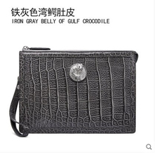 gete Crocodylus porosus  mens handbag genuine crocodile skin business envelope bag casual clutch Estuarine