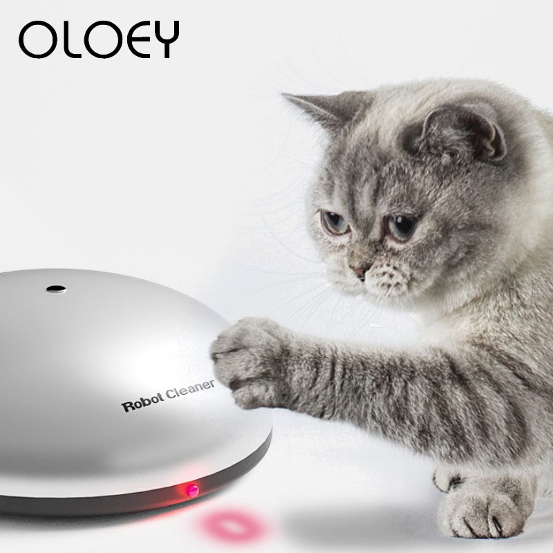 2-in-1 Robot Cat Laser Toy Funny Sweeping Hair Removal Automatic Induction Cat Interactive Toy For Puppy Pet Dog Cat Supplies