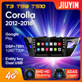 JIUYIN для Toyota Corolla 11 2012 - 2016 автомобильный Радио мультимедийный видео плеер навигация GPS Android No 2din 2 din dvd