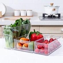 Şeffaf kiler organizatör kutuları ev plastik gıda depolama sepeti kutusu mutfak tezgahı dolapları buzdolabı dondurucu