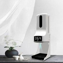 Termômetro montado na parede com dispensador de sabão mão k9 pro medição de temperatura automática e máquina de desinfecção com alarme