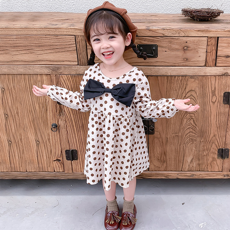 Humor Bear Fashion Kids Clothes Girl Plaid Doll Collar Long Sleeve Dress Children Princess Dresses Baby Girls Clothing Outfits 5