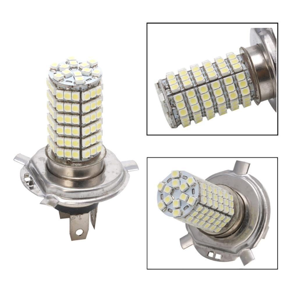 White 6500K DC 12V Super Bright Auto Lights Headlamp 2pcs 102 SMD 3528 LED H4 LED Headlight Bulb H4 Car Fog Light Pure