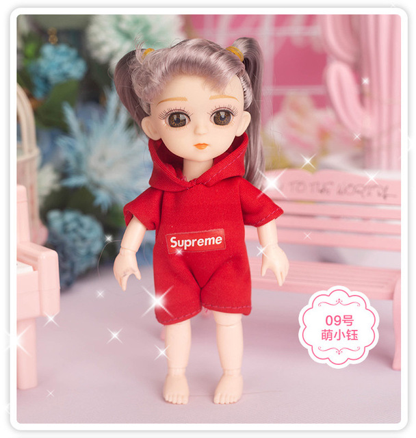 Hot new 16 cm Bjd doll 13 movable joints eye high-end clothing can dress up fashionable girl dolls DIY toys children the best gi