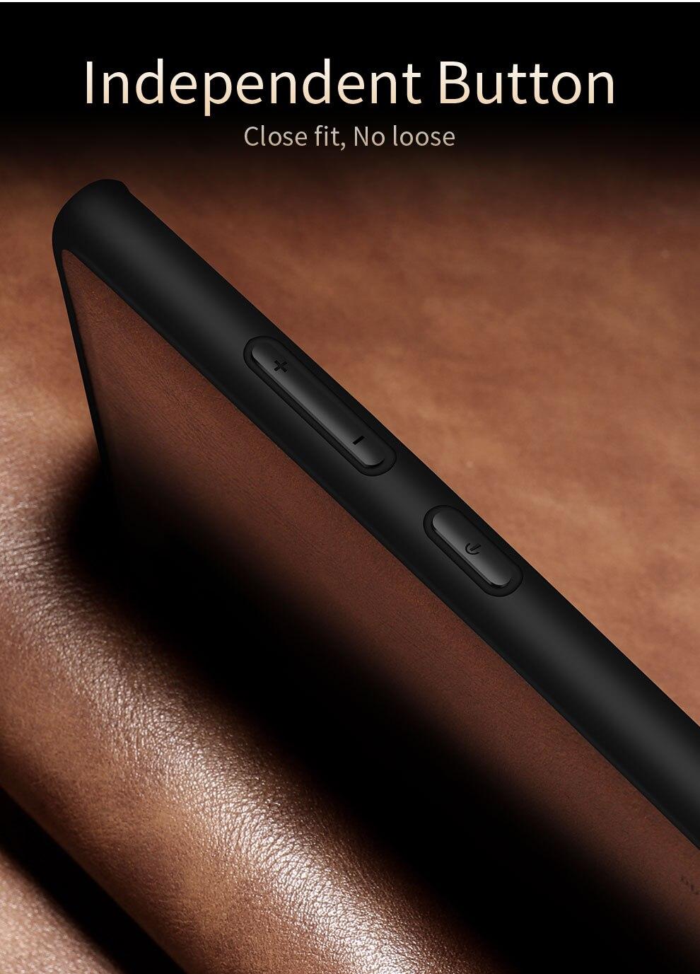 H5fde45e23d8a469f839cd0b61792c6b3v X-Level Leather Case For Samsung Note 10 Plus Soft Silicone Edge Back Phone Cover For Samsung Galaxy Note 10 Case Note10 Plus