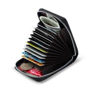 Image 2 - WILLIAMPOLO עור כרטיס מחזיק גברים כרטיס אשראי ארנק עור פרה כרטיס רוכסן גברים של ארנק רוכסן ארנק גברים מטבע ארנק #185143