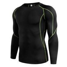 Осенняя одежда, 5 цветов, рубашка для мужчин, высокое качество, длинный рукав, футболка с круглым вырезом, однотонный топ для фитнеса