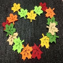 40 шт 4,2x4,3 см 6 конфетных цветов, войлочный кленовый лист, сделай сам, декоративные листья для детского сада, детский сад, нашивка, аппликация, листья, ручная работа